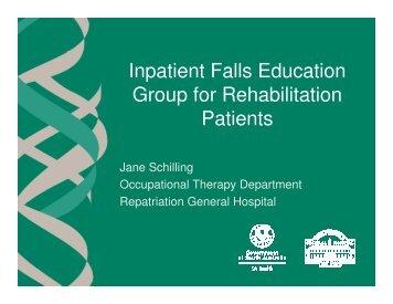 Inpatient Falls Education Group for Rehabilitation Patients ...