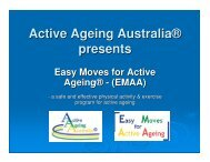 Easy Moves for Active Ageing - Falls Prevention in SA