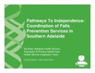 Pathways To Independence - Falls Prevention in SA