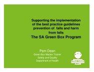 The SA Green Box Program - Falls Prevention in SA