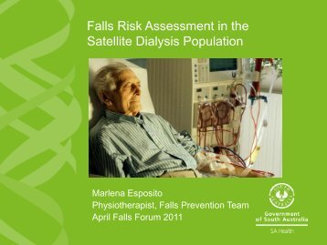 Falls risk assessment in the satellite dialysis population.