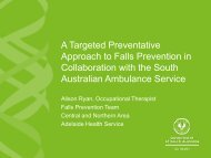 A targeted preventative approach to falls prevention in