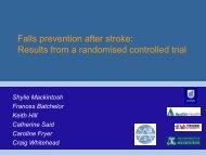 Shylie Mackintosh - Falls Prevention in SA