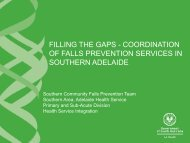 filling the gaps - coordination of falls prevention services in southern ...