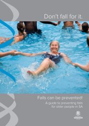 Don't fall for it. - Falls Prevention in SA
