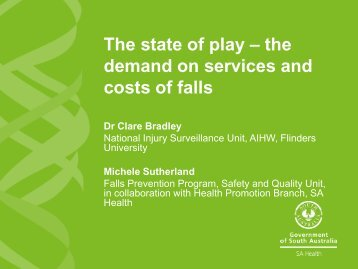 The state of play - Falls Prevention in SA