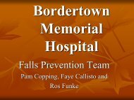 Country Health - One step at a time. - Falls Prevention in SA