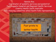 Foot prints to better health - Falls Prevention in SA