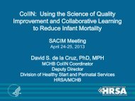 CoIIN. Using the Science of Quality Improvement and ... - HRSA
