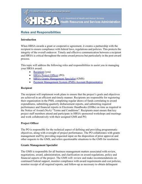 Award Management 101 Tutorial - HRSA