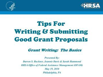Writing a Competitive Grant Proposal Workshop