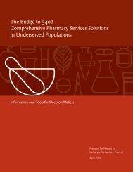 The Bridge to 340B Comprehensive Pharmacy Services - HRSA