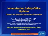 Vaccine safety monitoring and Immunization Safety Office ... - HRSA