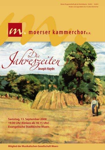 Evangelische Stadtkirche Moers - Moerser Kammerchor