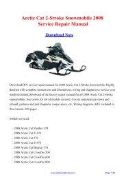 Arctic Cat 2-Stroke Snowmobile 2008 Service ... - eRepairManual.com
