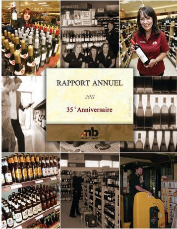 2011 rapport annuel 1 - Alcool NB Liquor