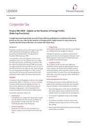Tax - Finance Bill Debt Cap - May 09.qxd - Pinsent Masons