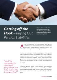 Getting off the Hook – Buying Out Pension Liabilities - Pinsent Masons
