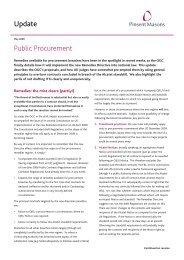 Public Procurement Update - May 09:Layout 1.qxd - Pinsent Masons