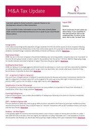 M&A Tax update - Jul 08:Layout 1.qxd - Pinsent Masons
