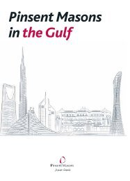 Pinsent Masons In The Gulf
