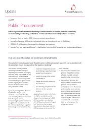 Procurement update - July 08:Competition - The ... - Pinsent Masons