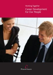 Career Development For Our People - Pinsent Masons