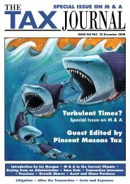 Turbulent Times? Guest Edited by Pinsent Masons Tax
