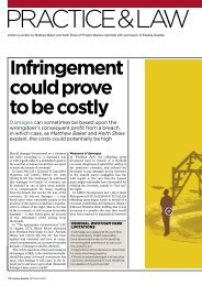 Infringement could prove to be costly - Pinsent Masons