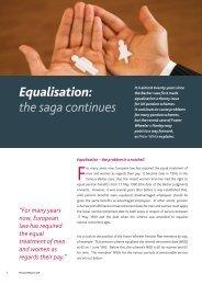 Equalisation: the saga continues - Pinsent Masons