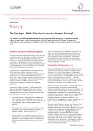 The planning act 08 - what does it mean for the ... - Pinsent Masons