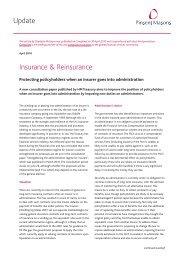 Update Insurance & Reinsurance - Pinsent Masons