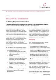 Re-defining the pure protection contract - July 07 ... - Pinsent Masons