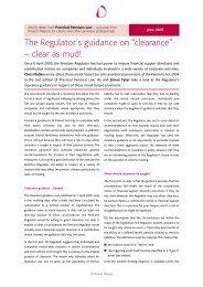 Pensions Journal No 3 - Pinsent Masons
