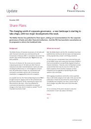 Share Plans Update - Pinsent Masons