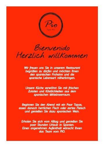 Pio karte.indd - Pio Restaurant – Tapas Bar