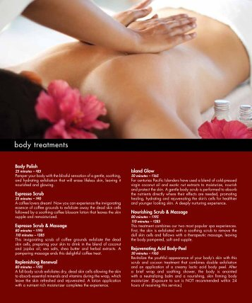 body treatments - Red Rock Casino Resort & Spa