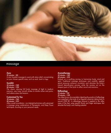massage - Red Rock Casino Resort & Spa