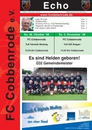 Ausgabe 3 - FC Cobbenrode 1926 eV