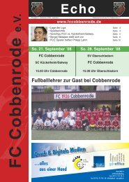 Ausgabe 2 - FC Cobbenrode 1926 eV