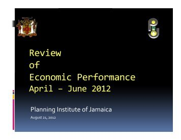 Review of Economic Performance, April–June 2012 - Planning ...