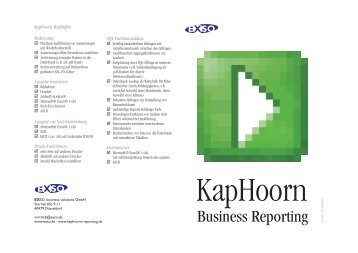 Business Reporting - EXSO. business solutions Gmbh
