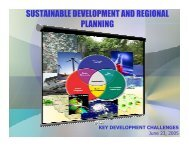 Sustainable Development and Regional Planning: Key ...