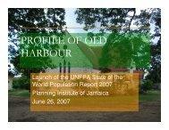 PROFILE OF OLD HARBOUR - Planning Institute of Jamaica
