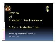 Review of Economic Performance - Planning Institute of Jamaica