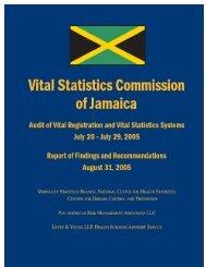 Vital Statistics Commission of Jamaica - Planning Institute of Jamaica