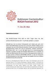 Das Buga-Festival 2012 lädt an zehn Tagen dazu ein, den schönen ...