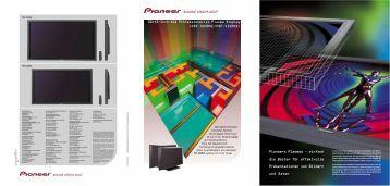 Professional Plasma Displays - Pioneer Europe