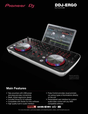 download the ddj-ergo product sheet - Pioneer DJ