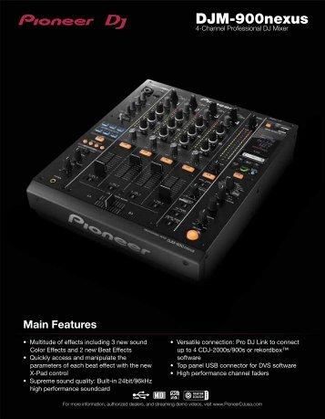 Features - Pioneer